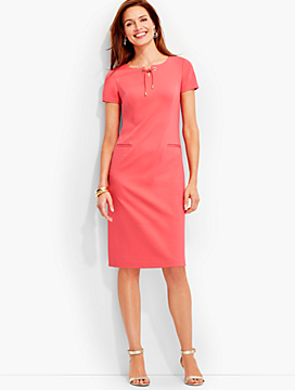 Lace-up Ponte Sheath