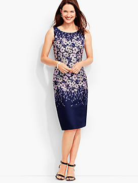 Mirrored-Floral Sheath