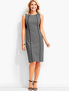 Strafford Dobby-Weave Colorblocked Sheath Dress