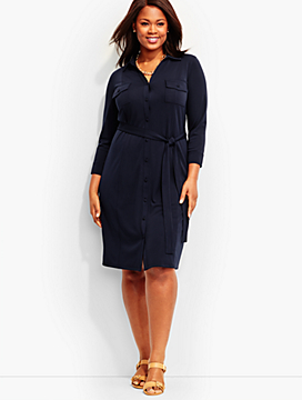 City Jersey Shirtdress