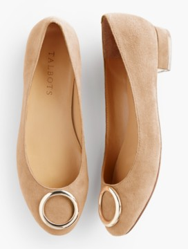 Brooke Gold-Ring Flats-Suede
