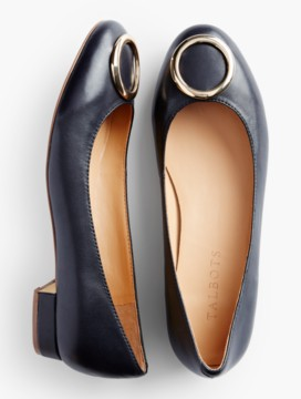 Brooke Gold-Ring Flats-Smooth Leather