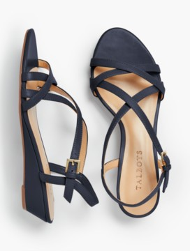 Capri Crisscross-Strap Wedges