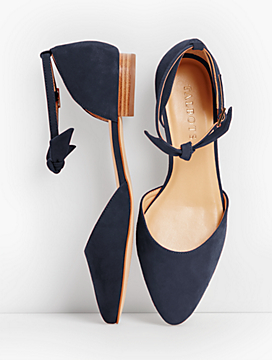 Edison Ankle-Strap Flats-Suede