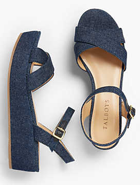 Gabriella Platforms-Denim