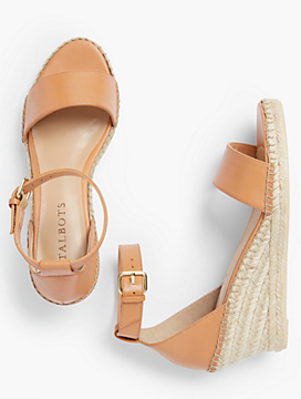 Lyndsay Espadrille Wedges - Vachetta Leather Fashion Colors