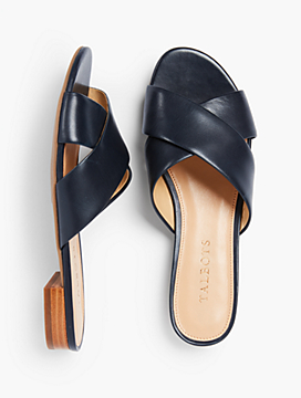 Sailor Crisscross-Strap Slides-Vachetta Leather