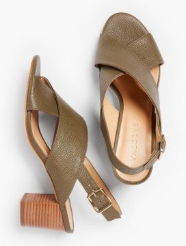 Trisha City Sandals-Pebbled Leather