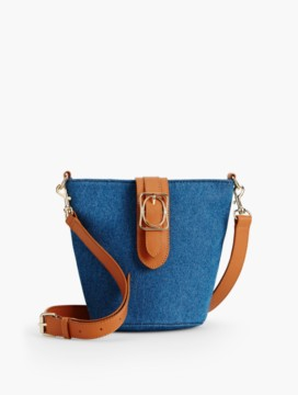 Square & Oval Bucket Bag - Denim