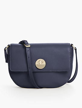 Pebbled Leather Saddle Bag