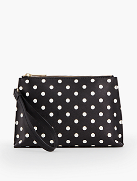 Dots Leather Wristlet