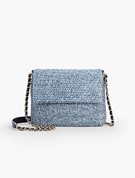 Straw Envelope Crossbody Bag-Heathered
