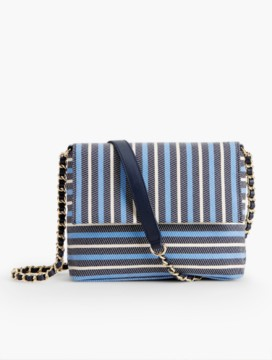 Envelope Crossbody Bag-Awning Stripes