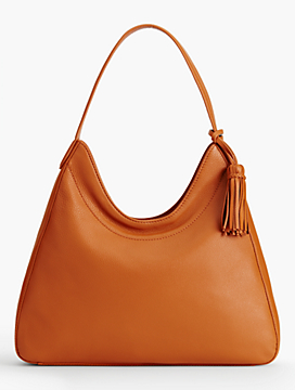 Pebbled-Leather Hobo