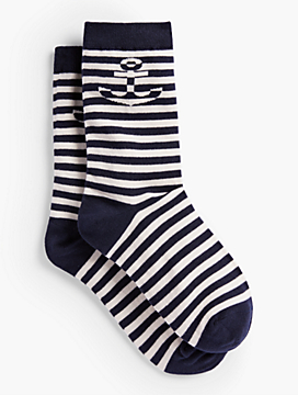 Stripe & Anchor Trouser Socks