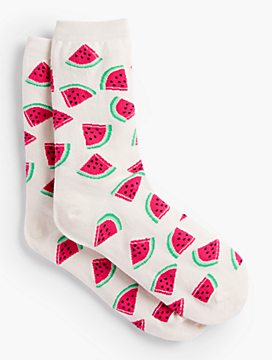 Watermelon Trouser Socks