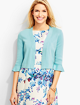 Flounced-Sleeve Dress Shrug