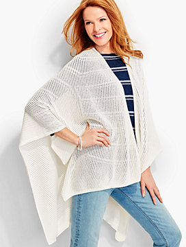 Ribbed-Pointelle Wrap