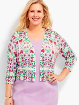 Womans Flower Medley Classic Dress Shrug