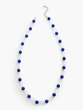 Bead & Oval-Link Necklace