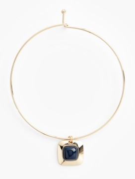 Square & Cabochon Collar Necklace