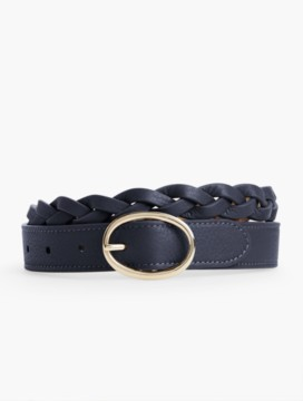 Braided Pebbled Leather Belt