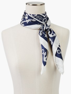 Anchors Away Silk Scarf