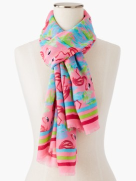 Fringed Flamingos Scarf