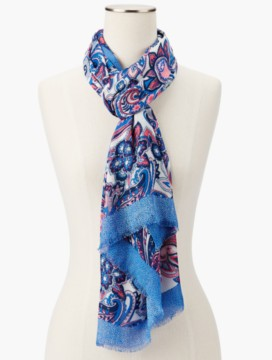 Fringed Paisley Soire Scarf