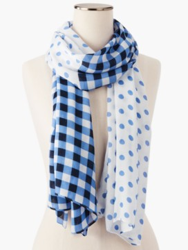 Gingham & Dots Scarf