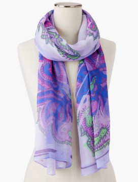 Paisley & Shadow Stripes Scarf