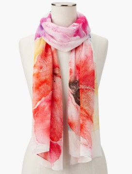 Floral Watercolor Scarf