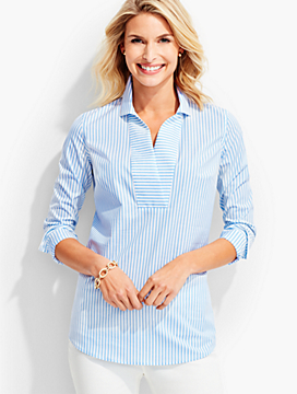 The Perfect Long-Sleeve Popover-Beacon Stripes