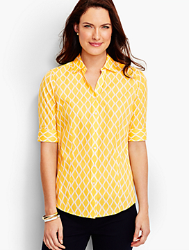 The Perfect Elbow-Sleeve Shirt - Trellis