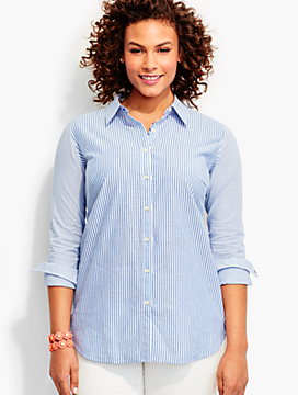 The Classic Casual Shirt-Mixed Stripes