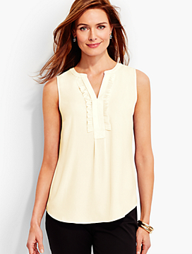 Ruffle-Placket Shell