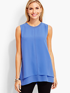 Double-Layer Flyaway-Back Top