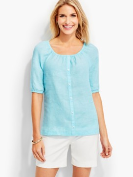 The Linen Scoopneck Shirt