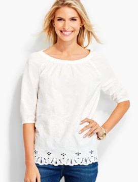 Embroidered-Cutout Popover