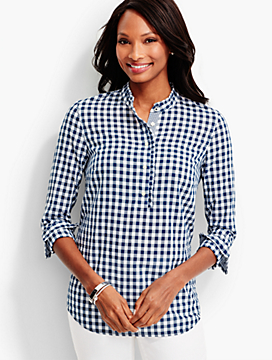 Ruffled Popover-Gingham Checks