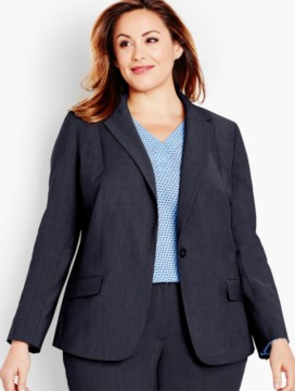 Seasonless Wool Single-Button Blazer-Mid-Length