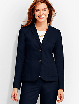 Lightweight Twill Double-Button Jacket