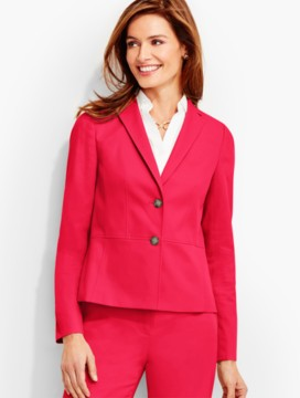 Lightweight Twill Contemporary Double-Button Jacket