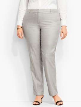 Westport Tweed Tailored Straight-Leg Pant
