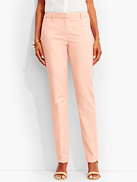 Dartmouth Herringbone Tailored Straight-Leg Pant