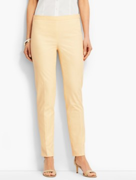 Lightweight Twill Side-Zip Ankle Pant-Gypsum