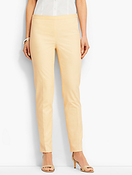 Lightweight Twill Side-Zip Ankle Pant