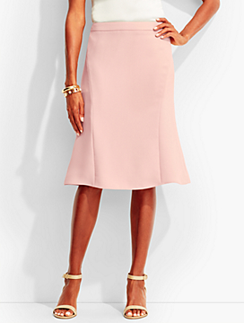 Refined Crepe Flounced Skirt
