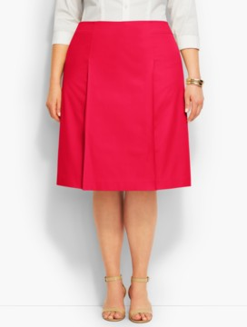 Lightweight Twill Pleated A-Line Skirt