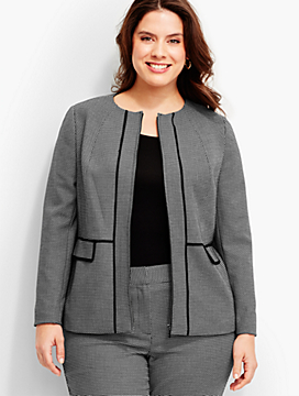 Womans Strafford Dobby-Weave Zip-Front Jacket